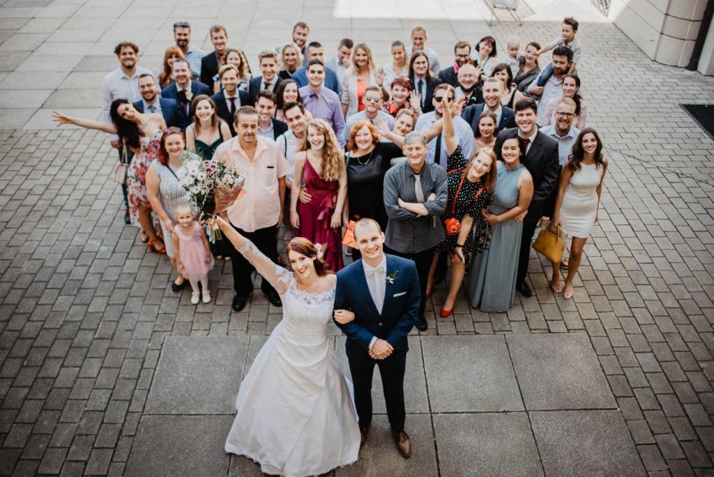 People on the wedding